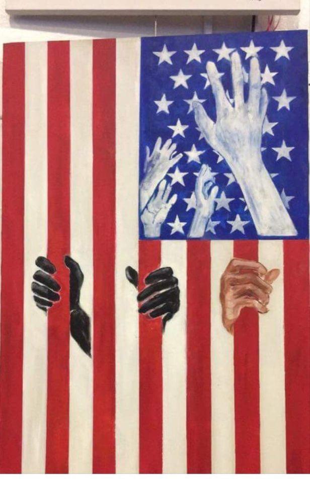 american flag activist art